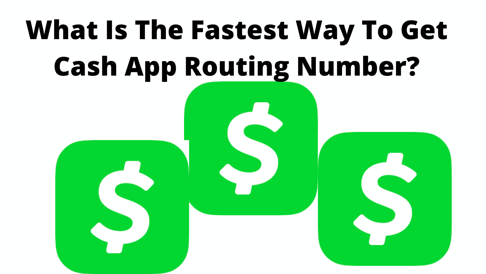 How To Get Cash App Routing Number