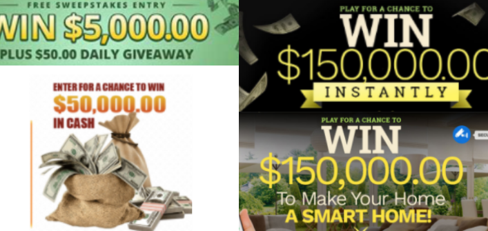 Instant Win Sweepstakes For US Residents
